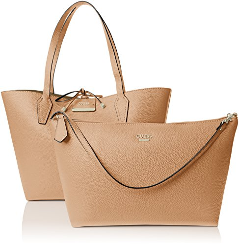 Guess - Bobbi Inside Out Tote, Borsa a mano Donna Multicolore (Camel Multi)