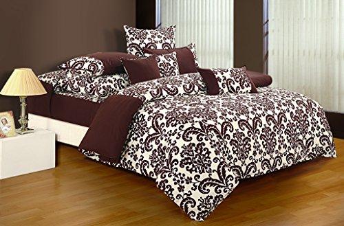 Yuga Dekor bedruckten Baumwoll dekorativen Schokolade braun Queen-Size-Bett Bettbezug Set 90 X 100 Zoll - Bett Queen-schokolade