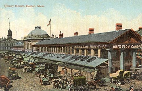mary-evans-grenville-collins-postcard-collection-boston-massachusetts-quincy-market-artistica-di-sta