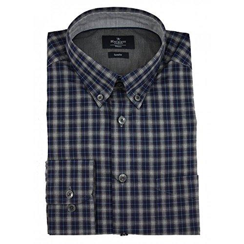 hackett-tonal-melange-check-camisa