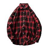 Sweatshirt Herren,SANFASHION Männer Herbst Winter Plaid Streetwear Tasche Langarm Pullover Top Bluse