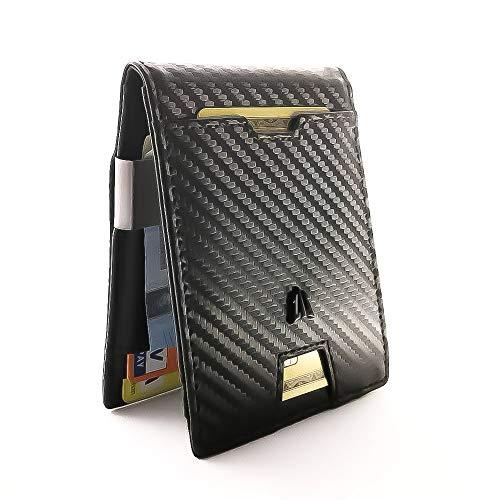 49525c72d25f8d WALLIT, Portafoglio uomo, clip fermasoldi, Portafoglio piccolo, tascabile  documenti, porta carte
