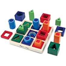 Melissa & Doug - Juego infantil de formas geométricas para encajar (10582)
