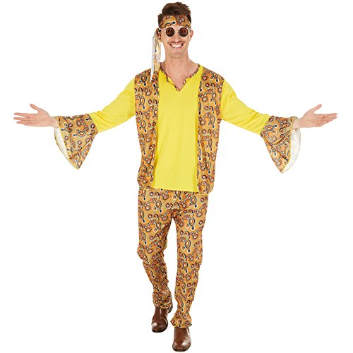 Mit Tanzen Stars Kostüm Den - TecTake dressforfun Herrenkostüm Discostar | Oberteil mit angenähter Weste | Coole Hose mit Gummizug | Inkl. Haarband (XXL | Nr. 300961)