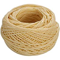 rosenice 61m cuerda de cáñamo enceradas (mecha de vela Wicks Low Smoke algodón Núcleo para hacer vela vela DIY Craft Project