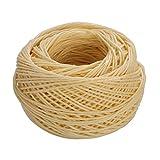 ROSENICE 61m Mèche coton ciré Mèche bougie Coton pour la fabrication de bougie bougie bricolage projet d'artisanat