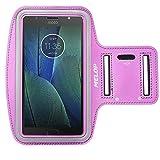 MELOP Armband für Motorola Moto E4Plus G4Plus G5Plus G5S Plus G6Plus, Moto X Z Z3G6Play, Moto X Force Weich Schweißbeständig Sport Arm Band mit Schlüsselhalter Karte Cash Pocket