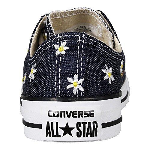 Converse Ctas Ox, Sneaker a Collo Basso Donna Blu (Navy/Fresh Yellow/White)