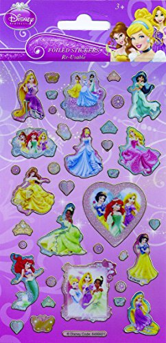 Disney Princess Foiled Re-Usable Sticker (Disney Princess Kronen)