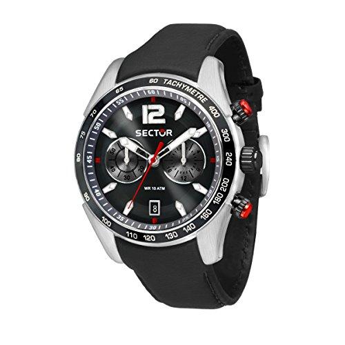 SECTOR Orologio Cronografo Quarzo Uomo con Cinturino in Pelle R3271794004