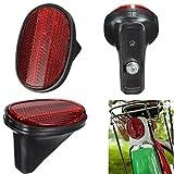 Naisicatar rosso bicicletta parafango posteriore di sicurezza Warnning coda riflettore parafango ciclismo