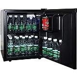 Syntrox Germany A+ Schwarz 55 Liter geräuscharmer 25 db Mini Kühlschrank leiser Hotelkühlschrank