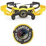 Hasakee Mini RC Quadcopter Drohne mit 3D-Flip,kamera,kopflos - modus,2,4 GHz 6-Achsen-Gyro am besten für Anfänger