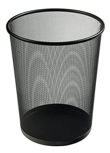Osco WB35-BLK Papierkorb aus Drahtgeflecht, 35 cm hoch, schwarz