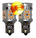 PY21W Bombillas LED Canbus ámbar naranja Indicador de señal de giro delantero trasero BAU15s 581 – Gran Corriente CanBus 2,7 A
