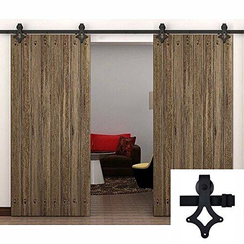 hahaemall-244-meters-24384-cm-96-interno-del-paese-in-acciaio-colore-nero-effetto-legno-per-porta-sc