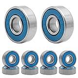 Qpower 20 Pcs Skateboard Bearing, 608 ABEC-9 High Speed Wearproof Skating Steel Wheel