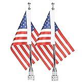 E-Most Motorrad Durable Einstellbare Fahnenstange Halterung + 6x 9American Flagge Kit für...
