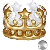 Kostüm Zubehör Verkleidung King Spielzeug Party Aufblasbar Kinder Gold Krone