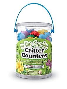 Learning Resources- Figuras de Insectos del jardín In The Garden Bug Counters, Cubo de 72, Color (LER3381)