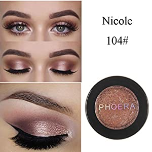 Eyeshadow Palette,VNEIRW 5 Bright Colours+Shimmer+Glitter Powder Cosmetic Makeup Eye Shadow Pallette (1 Color D)