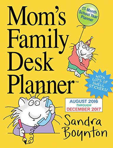 Mom's Family Desk Planner August 2016 Through December 2017 Calendar
