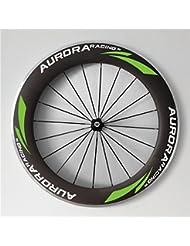 Aurora Racing 700 C 80 mm de profundidad 25 mm de ancho clincher ruedas para bicicleta