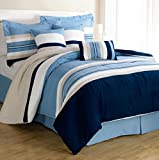 Bella duvet cover (white,blue,navy blue,233.6cm*259cm)