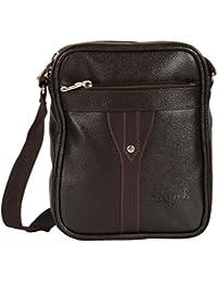 KLARK Unisex Sling Bag (Brown, FMS-993 BROWN)