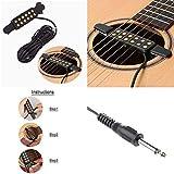 Silenceban Micro pour guitare électrique acoustique transducteur pour guitare acoustique, longueur de câble 3m