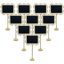 eurshine Mini pizarra tablero de mensajes señal con soporte etiquetas, pata, 10PK