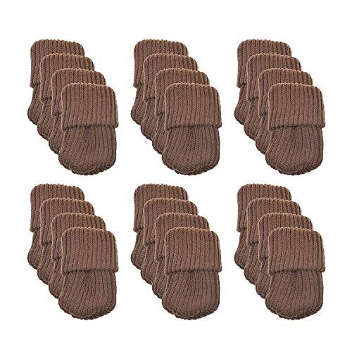 Meta-U® 24pcs stricken Möbel Wollsocken - Stuhl Bein Floor Protector-Pads (Kaffee) (Futon Sofa Und Stühlen)