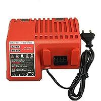 Funda de recambio a Milwaukee de carga MIL-M18-CH01 48-59-1812 48-59-1807 48-59-1806 48-59-1840 2710-20 para Milwaukee M18 18 V Li-ion batería li-ion de rojo