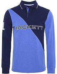Hackett Camisa de Polo Slim Fit manga larga Azul Marino Y Azul