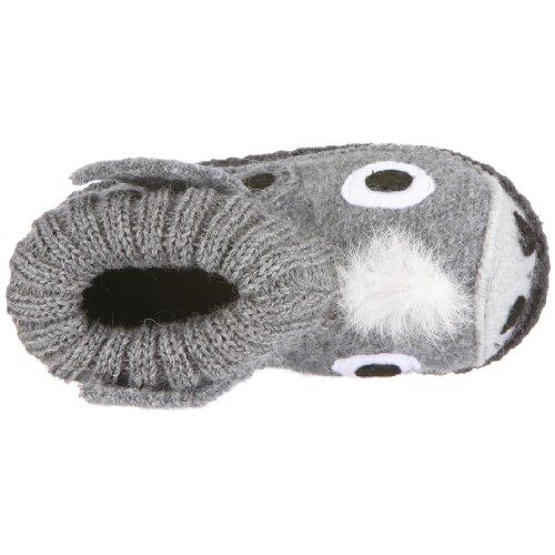Kitz - Pichler Esel, Hi-Top Slippers mixte enfant Gris - Grau (Graumele/silber 2830)