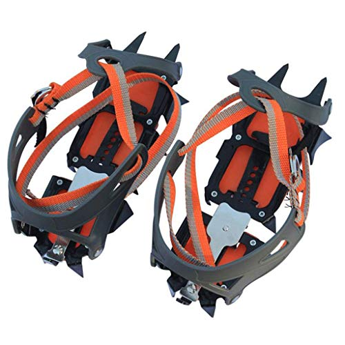Jokeagliey Walk Traction Ice Tacchetti per Scarpe, Catena per Scarpe, Migliore trazione, ramponi per Scarpe da Escursionismo, da Donna, Migliori Ice Creeper, Taglia L