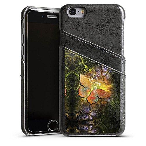 Apple iPhone 4 Housse Étui Silicone Coque Protection Papillons Automne Papillon Étui en cuir gris