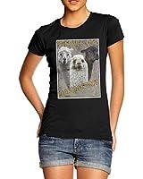 Women Cotton Animal Theme Funny Print Lamb Armageddon T-Shirt