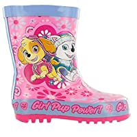 Girls Paw Patrol Wellington Boot Wellies Size 5 6 7 8 9 10 Infant