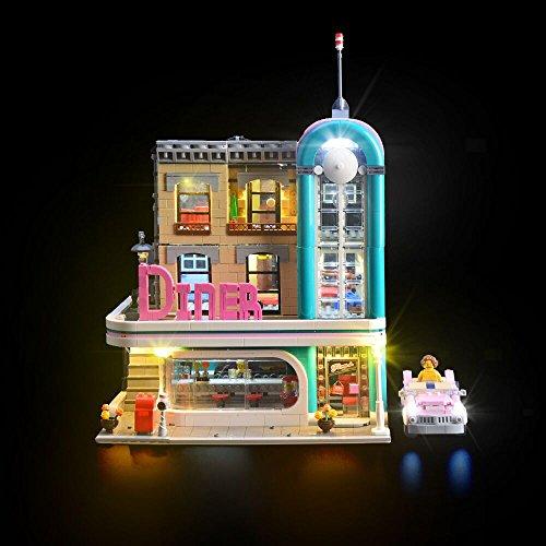 LIGHTAILING Licht-Set Für (Amerikanisches Diner) Modell - LED Licht-Set Kompatibel mit Lego 10260(Modell Nicht Enthalten)