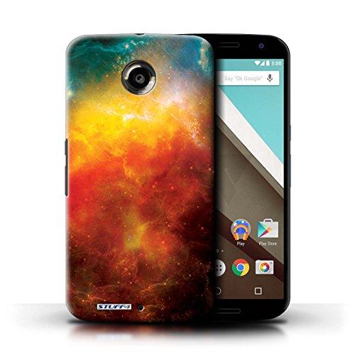Kobalt® Imprimé Etui / Coque pour Motorola Nexus 6 / Planète Jaune conception / Série Cosmos Nébuleuse Orange