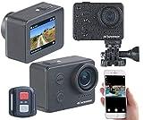 Somikon Action Camera: UHD-Action-Cam mit WLAN, Sony-Sensor, wasserdicht ohne Gehäuse, IPX8 (Actioncam 4K)