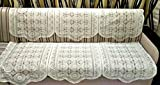 Griiham 3 seater Offwhite net Embroidery...