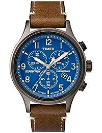 7ae88dee8105 Timex Reloj Cronógrafo para Hombre de Cuarzo con Correa en Cuero TW4B09000