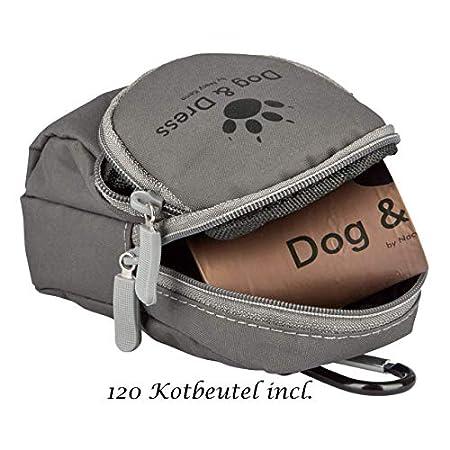 Dog & Dress by Nacy Kena Hunde Kotbeutel Kotbeutelspender, Leckerli Beutel, 120 St, Maisstärke, groß, sicher, reißfest…