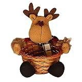 RWINDG_Decoration RWINDG Weihnachtssüßigkeits-Speicherkorb-Dekoration Weihnachtsmann-Ablagekorb-Geschenk Beleuchtung Aussen Glas Exclusive