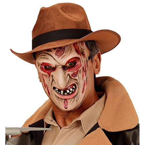 Freddy Krüger Zombie Maske Killer Monstermaske Horror Zombiemaske Halloween Monster Halloweenmaske Horrormaske Bestie Grusel Faschingsmaske Untoter Karneval Kostüm Accessoires (Halben Tag Der Toten Kostüm)
