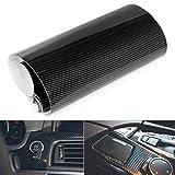 EQLEF® Wrap DIY 3D de fibra de carbono de vinilo pegatinas para el coche Auto vehículo ordenador Keybard ratón Motor decorativo - Color Negro 30 * 127cm