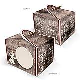 24 kleine braun-beige Engel Plätzchen Pralinen Keks Schachteln Boxen (8 x 6,5 x 5,5) Mini-Verpackung für Weihnachts-Geschenke, Mitgebsel, give-aways … für Freunde, Mitarbeiter, Kunden u. Kollegen