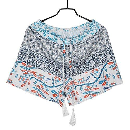 Piebo Schlussverkauf Frau-reizvolle heiße Hosen Sommer-beiläufige Kurzschluss-hohe Taille Kurzschluss-Hosen Spielraum (Mehrfarbig, XL) (Haggar Hose Denim)